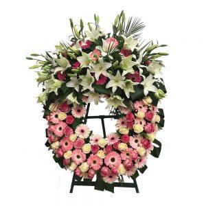 Coroa de Funeral XXL gerbera e coroa imperial