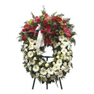 Coroa de Funeral XXL Antúrios