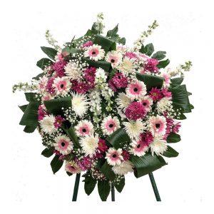 Coroa de Funeral tons rosa