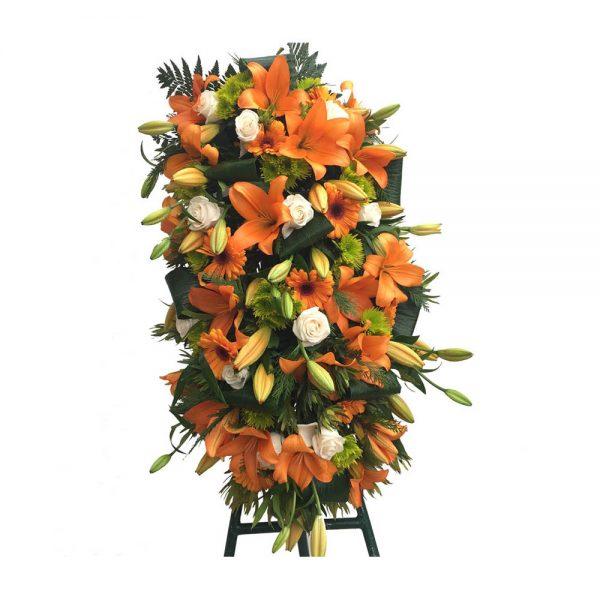 Palma de Funeral Laranja e branco
