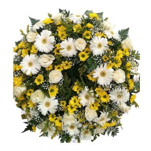 coroa de funeral amarela