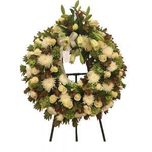 Coroa de Funeral branca
