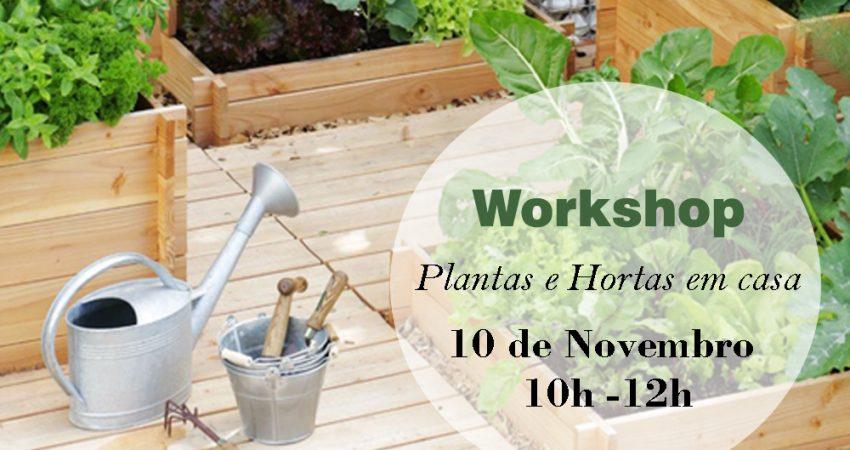 """Workshop """"Plantas e Hortas em casa"""""""