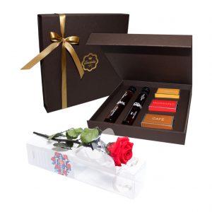 Flores, Chocolate e Moscatel - Rosa no Tubo