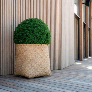 Vaso ZAYN, Bohemian Collection, Bamboo + Buxo Bola