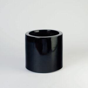 Floreira cilíndrica - Fibra de vidro Preta