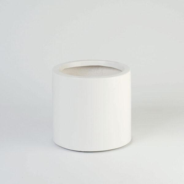 Floreira cilíndrica - Fibra de vidro Branca