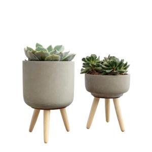 Vaso de Cimento com pernas_ambiente