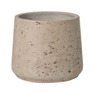 Vaso Cónico, de cimento cinza claro