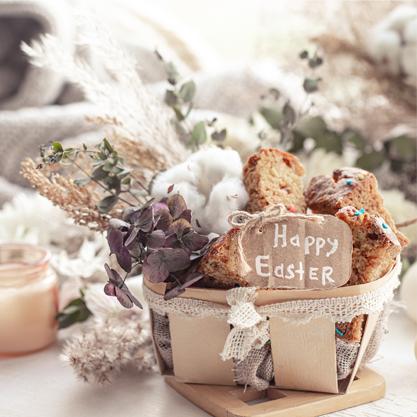 Celebre a Páscoa com flores e chocolates!